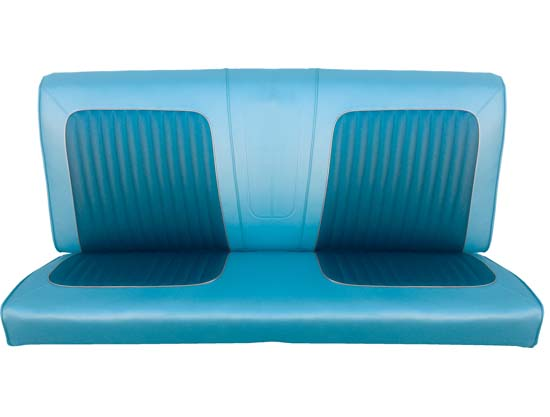 64 Falcon Futura Convertible Rear Bench Seat Upholstery, Blue Metallic, Two Tone