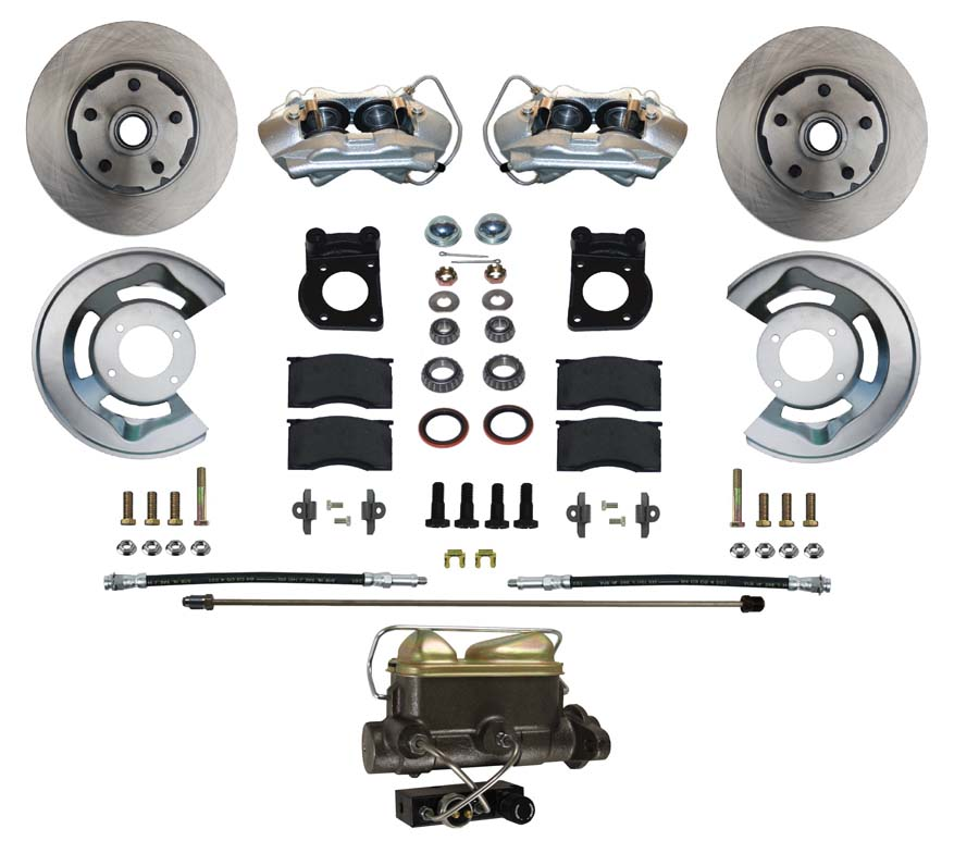 64-69 Falcon Front Disc Brake Conversion Kit, V8 & 6 Cylinder Spindles See Notes For Fitment Exceptions