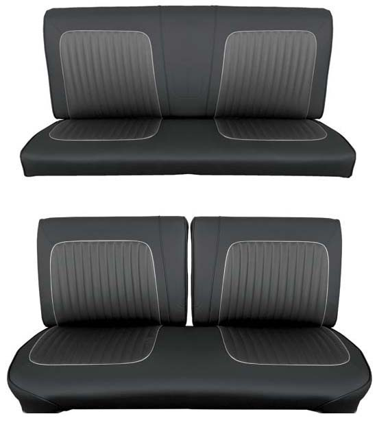 64 Falcon Futura Convertible Full Upholstery Set w/ Split Bench Seat, Leather [1