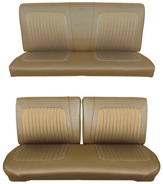 64 Falcon Futura Convertible Full Upholstery Set w/ Split Bench Seat, Palomino [