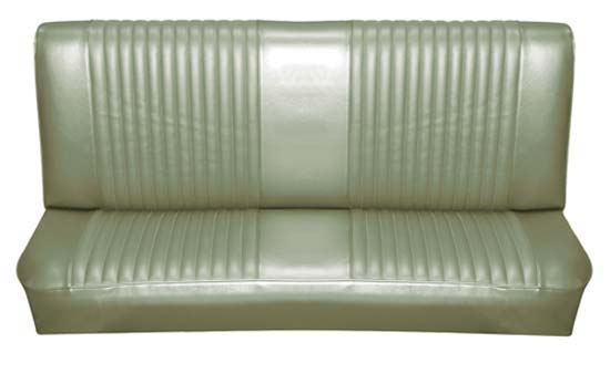 65 Falcon Futura Convertible Rear Bench Seat Upholstery, Ivy Gold Metallic [1002